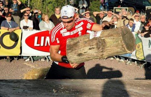 INVITERER: Olaf Tufte er klar for VM i timbersports i Lillehammer.