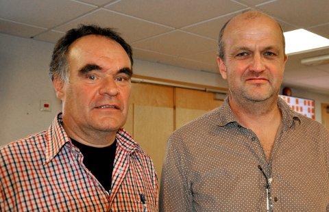 41 SØKNADER: Landbrukssjef i Horten, Rolf Magne Vindenes og Jan-Einar Apeness. leder for Borre- og Undrumsdal bondelag fikk inn, som ventet, rekordmange erstatningssøknader fra Horten.