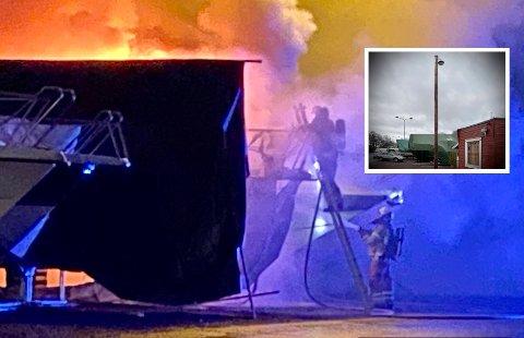 FANGET PÅ FILM? Video fra et overvåkingskamera er blant materialet som nå granskes i jakten på årsaken til at det brøyt ut brann i Fyllinga nyttårsaften.