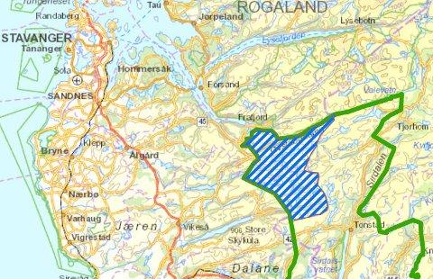 Fylkesmannen i Rogaland vil ta Gjesdal og Bjerkreim ut av et område NVE har utpekt som spesielt godt egnet for vindkraftutbygging.