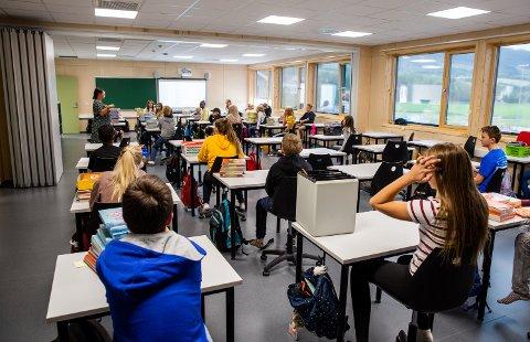 Illustrasjonsfoto: Første skoledag på Jørstadmoen skole i 2018.