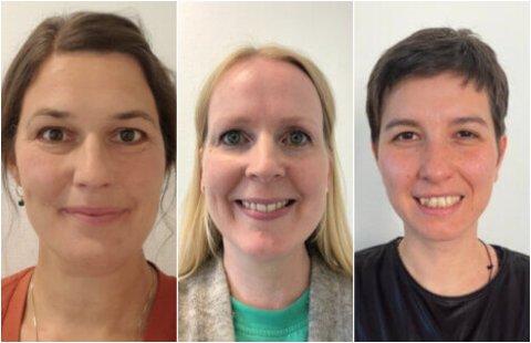 F.v: Line Marie Tholstrup (40), Lisa Knatterud Wold (40) og Deniz Akin (37) er nyinnflyttede til Lillehammer og godt i gang med sine jobber.