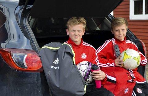 OSLO NESTE: Eskild Fredriksen (til venstre) og Eirik Hermansen er klare for en ny Oslo-tur og trening med KFUM.