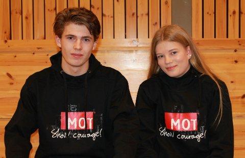 - Det er en ære å bli utnevnt til MOT-ambassadør, var Håkon Nohr og Karoline Jæger enige om