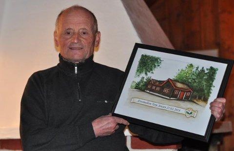 VAR STOLT: Terje Jensen ble æresmedlem nummer 15 i TFL.