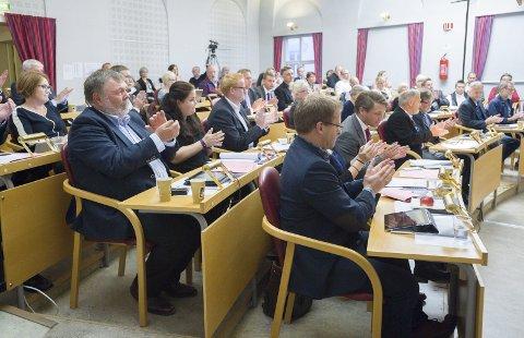 Nytt: Kommunestyret 2015–2019 er historie. I dag konstitueres det nye. Arkivfoto: Stein Johnsen