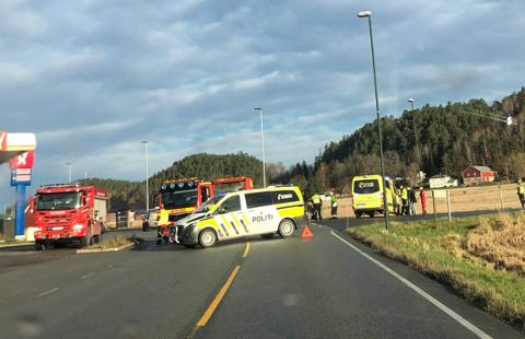Trafikkulykke Hovland