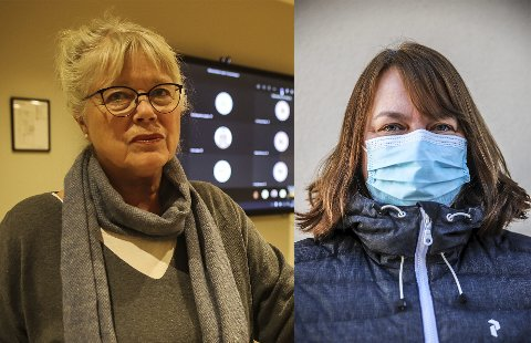 Ordfører Anne-Kari Holm (tv) og kommuneoverlege Kjersti Gjøsund.