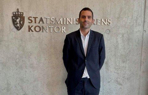 Kjetil Vevle ved Statsministerens kontor.