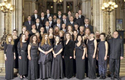 Wiens statsoperakor:  20. august skal dette koret framføre høydepunkt etter høydepunkt  fra operahistorien:  Verdi, Wagner,  Grieg og mye annet i Vår Frelsers kirke.