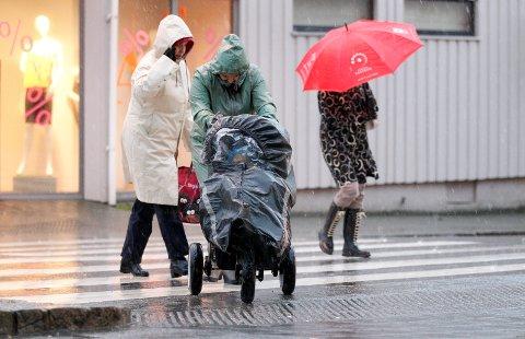 MYE NEDBØR I VENTE: Det vått og grått på Haugalandet den kommende uka.