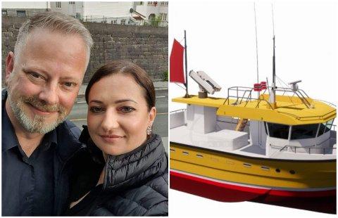 Gunnar Orø (48) og samboeren Alma Arlikeviciene (41) fra Kjøllefjord kom begge flyttende til Finnmark for flere år siden, og havnet i fiskeribransjen. Nå skal de selv begynne selge båter til flere millioner.