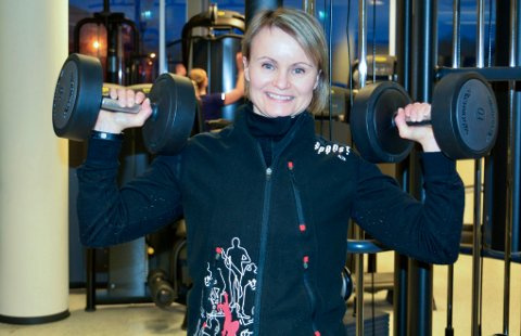 DRIVER: Lene Johansen er daglig leder hos Spenst Alta. Bildet er tatt i en annen sammenheng.