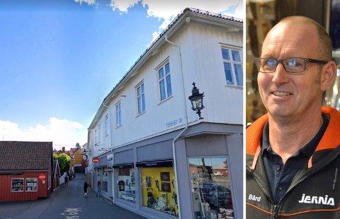 TOLLBODENKVARTALET: Bård Kristoffersen både driver Jernia Kragerø og eier bygården med adressen P.A. Heuchs gate 2.