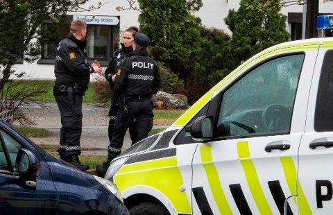 Politiet stilte opp med mange da en mannsperson ble pågrepet etter en våpenhendelse på Numedal videregående skole tidlig fredag ettermiddag.