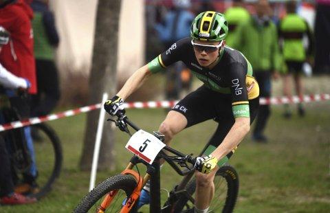 ANDREMANN: Erik Hægstad tråkket inn til en sterk andreplass i UCI-rittet i Vårgårda i helgen.