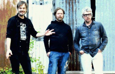 SIGHTSEERS: Trioen fra Kongsberg med navn Sightseers består av (fra venstre) Vegard Eggum, Christian Børke og Gavin Baker.