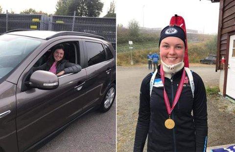 Først lappen, så gull: Linnea Winsvold vil nok alltid huske tilbake på uke 38 i 2020. Da tok hun først lappen, for så å ta NM-gull tre dager senere.