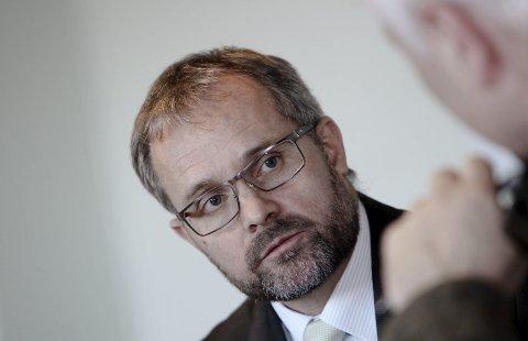 Knut R. Johannessen i Rygge Airport gleder seg over den store interessen for å få tilbake sivil flytrafikk på Rygge. foto: terje holm
