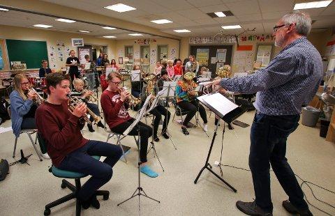 SKOLEKORPS: Krapfoss skolekorps er blant korpsene som deltar på seminar og konsert til helgen.
