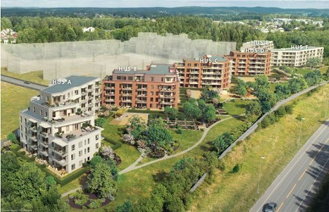 STORT OPPDRAG: Hersleth Entreprenør AS i Vestby har fått et stort oppdrag i Ski. De skal bygge de to første blokkene av prosjektet Skifabrikken.