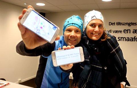 Pressesjef for NM på ski, Øystein Barth-Heyerdahl og Eva Halvorsen, salgsdirektør i Nordlys, har utviklet en app som kan brukes under NM på ski.