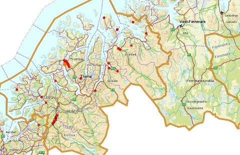 Her er varslingsanleggene i Troms. I morgen skal de testes.