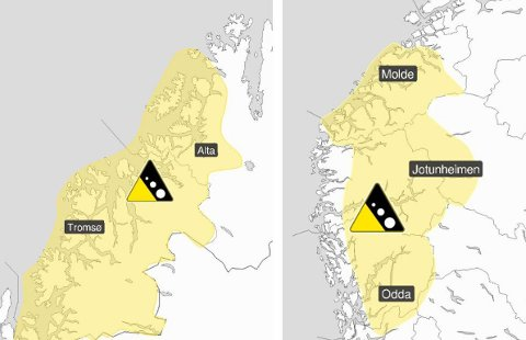 VENTER SNØ: Det kan bli et betydelig snøfall i fjellet de neste dagene, både i sør og nord. Kombinert med vind, fører dette til økt skredfare.