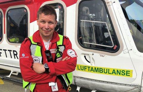 BEKYMRET: Bekymringsmeldingen kommer fra blant andre Bård Rannestad, seksjonsoverlege for helikopterbasene ved Luftambulanseavdelingen i Akuttmedisinsk klinikk på UNN.