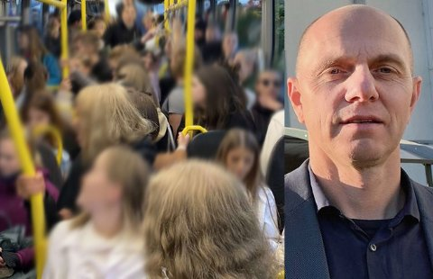 Divisjonsdirektør for samferdsel Bjørn Kavli lover å overvåke situasjonene på bussene i Tromsø sammen med Tide i tiden framover etter at Nordlys publiserte et bilde av en overfylt buss. Foto: Nordlys-tipser/Nordlys