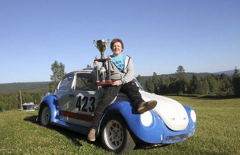 KARRIEREBESTE: Tord Ingar Nygård ble nummer to i landsfinalen i bilcross på Kongsberg i helga. Foto: Geir Norling