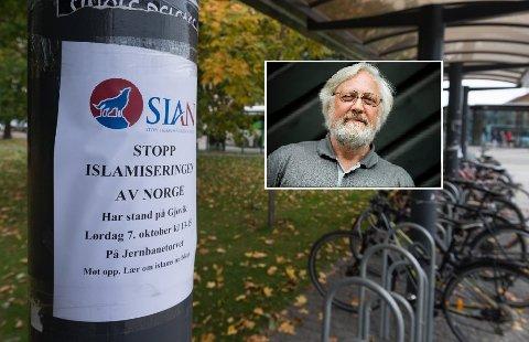 Sammenblandingen av rase og religion er et typisk kjennetegn for SIAN, ifølge forsker og førsteamanuensis Lars Gule ved Høgskolen i Oslo og Akershus.