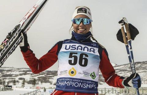 FANTASTISK GLAD: Marte Mæhlum Johansen leverte igjen da hun skulle og har igjen vist at hun er best når det gjelder.Foto: Erik Borg