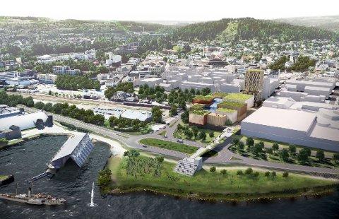 FORSLAG: Det kreves både innsats og midler for å få et nytt kulturhus på plass ved CC Gjøvik, men en ny analyse peker på at det er et godt forslag.