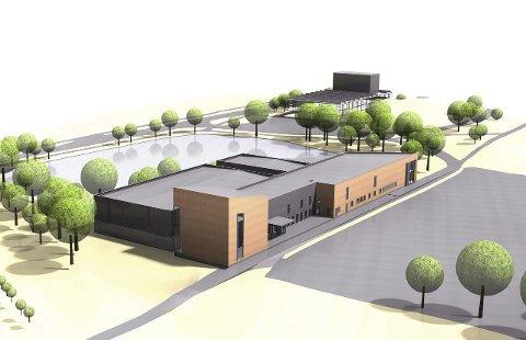 Planlegger utvidelse: Kapasiteten i GG-hallen er sprengt og nå planlegger SiÅs å utvide til et topp moderne treningssenter. ill.: Dyrø og Moen AS Arkitekter