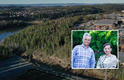 Lokalpolitikerne Jarle Ørnebo og Monica Dervo-Lehn  i FrP mener Nordre Follo må jobbe for å få Oslo fengsel til kommunen. - Vi kan tilby dem en annen tomt enn den på Berghagan, mener Dervo-Lehn.