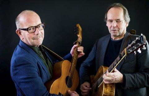 Suksess: Jonas Fjeld og Ole Paus har alltid hatt suksess med «To Rustne Herrer». Nå dukker de opp i Stavern med sin ferskeste produksjon i sommer.