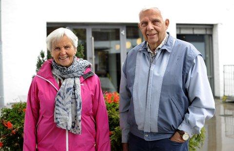 Ragnhild Kobro og Per Kåre Haga, begge fra Tanum menighet er to av flere arrangører bak «Møtestedet» på Tunheim.