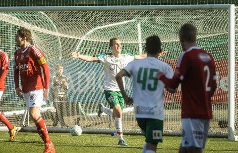 STARTET BALLET: Ivar Sollie Rønning scoret HamKams første mål da Bærum ble for små på Briskeby lørdag. Bildet er fra en tidligere anledning.