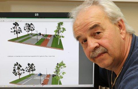 INTERESSANT: Tidligere kommuneplanlegger i Åsnes gjennom flere tiår, Ove Johnny Dybendal, lanserer nå muligheter i forbindelse med skolebygging og sentrumsutviklling.