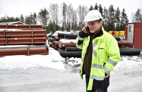 LEDER ARBEIDET: Overingeniør Tore Hugnes er Elverum kommunes prosjektleder.
