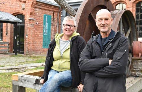 KLAR FOR Å SATSE: – Jeg mener at Munch-satsinga blir viktig for å holde oppe interessen for Klevfos, sier Jarl Holstad, her sammen med museumsarbeider Trine Engebakken Edvardsen.