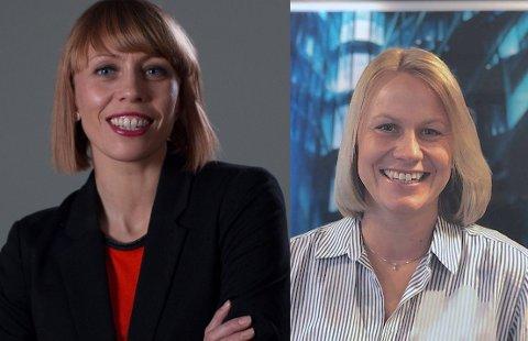 Therese Einmo Jürgensen (t.v.) og Kristin Hildrum er nyansatte i lederstillinger i Haaland.