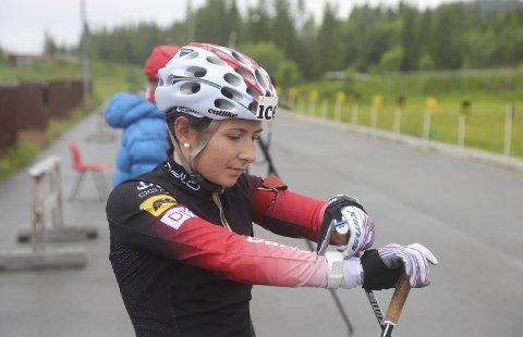 I rute: Marthe Kråkstad Johansen har fått lagt ned mange treningstimer denne sommeren, og er snart klar for å prøve seg i konkurranser. Foto: Stian Forland