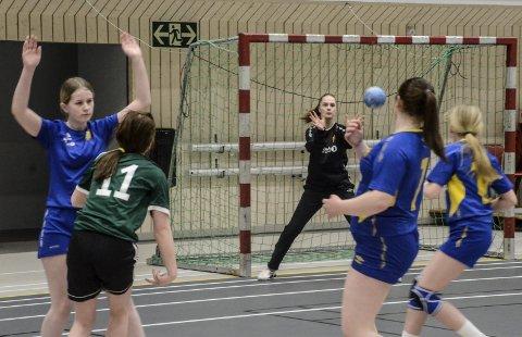 Keeper Kristine Sundsfjord hadde egentlig tatt en pause fra håndballen, men da Selfors UL ba henne stille i sesongens første seriekamp, ble hun med. Foto: Trond Isaksen