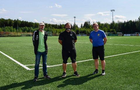 Ny satsing: Tom Helgesen (f.v.) , Vegard Engebretsen og Morten Lie Andersen vil gi et tilbud til ungdommer og eldre som er i lite aktivitet.