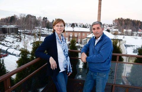 Utviklingsdirektør Ellen Grønlund og konsernsjef Haakon Tronrud.
