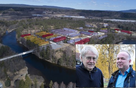VIL UTVIDE: Oddvar Røysi og Remi Stenersen er glad for å høre at UDI ser potensiale i bygningsmassen på Hvalsmoen.