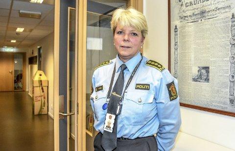 GI TID: Torill Sorte er tidligere lensmann i Nedre Eiker og leder for Leder for Felles enhet for utlending og forvaltning. Hun mener politireformen var nødvendig, og at publikum og ansatte må være tålmodig.