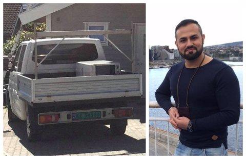 FORNØYD: Shawn Mohamed og faren er svært glade for at bilen er tilbake, kort tid etter at politiet ble varslet.